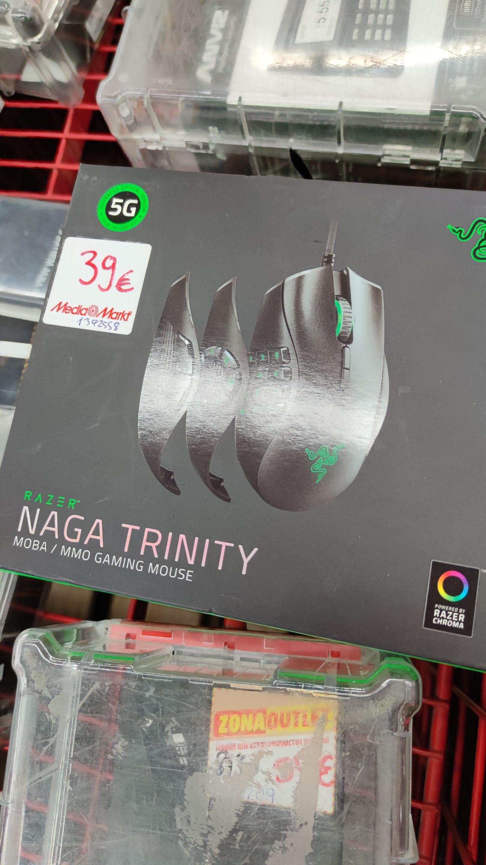 Ratón gaming Razer Naga Trinity Mediamarkt Granada