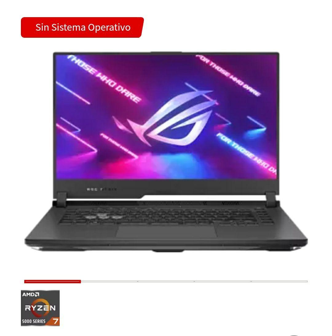 """Portátil gaming - Asus ROG 15.6"""" FHD, AMD Ryzen™ 7 5800H, 16 GB RAM, 1 TB SSD, RTX 3060, FreeDOS"""