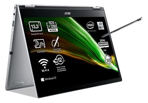 "Acer Spin 3 SP313-51N-33KW - Ordenador Portátil Táctil 13.3"" WUXGA SlimBezel Touch IPS, Laptop (Intel Core i3-1115G4, 8GB RAM, 256GB SSD)"