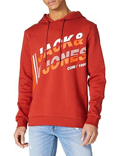 Sudadera Jack & Jones en rojo ocre y abedul plateado todas las tallas