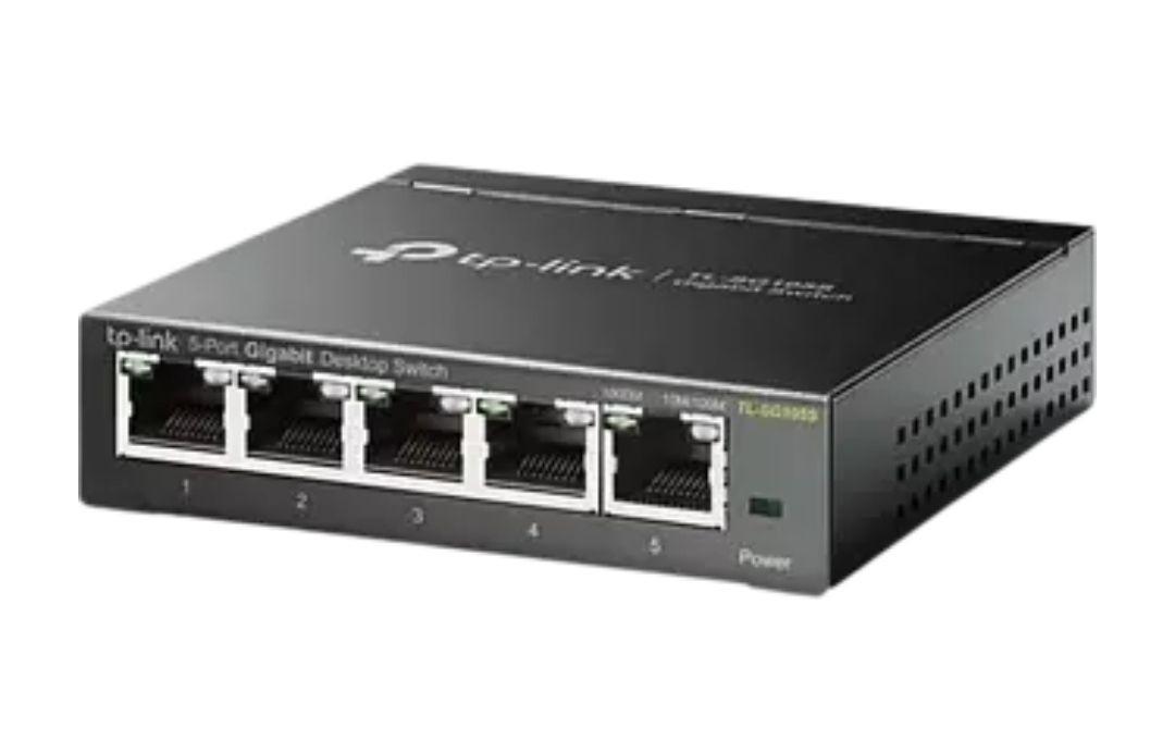 TP-Link TL-SG105S, 5 puertos RJ-45, Gigabit Ethernet (10/100/1000),