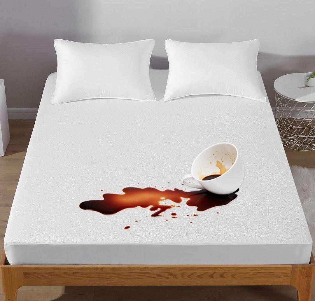 Protector de colchón 150x190/200cm,Impermeable y Transpirable, Hipoalergénico