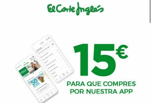 -15€ en ElCorteIngles en compras +60€ desde la APP
