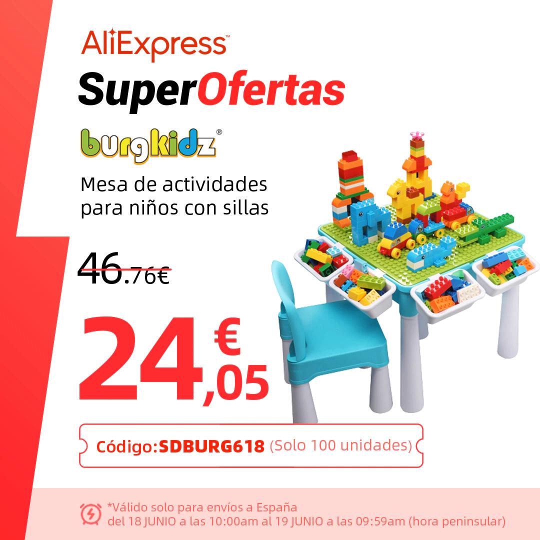 Mesa de juegos Burgkidz por solo 23,50€ (desde España)