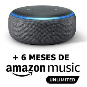 Prime Days - Echo Dot (3ª gen 19,99€, 4º gen 24,99€, +Reloj 34,99€) + 6 meses de Amazon Music
