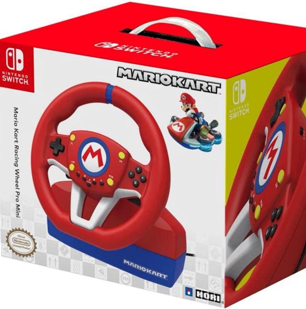 HORI - Volante Mario Kart Pro Mini + pedales (Nintendo Switch/PC)