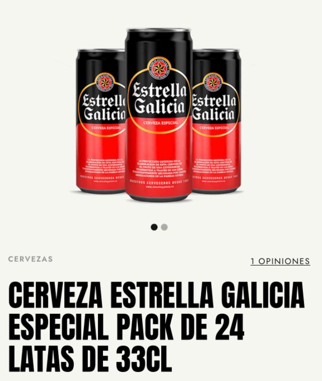 Estrella Galicia lata 33cl 10% descuento
