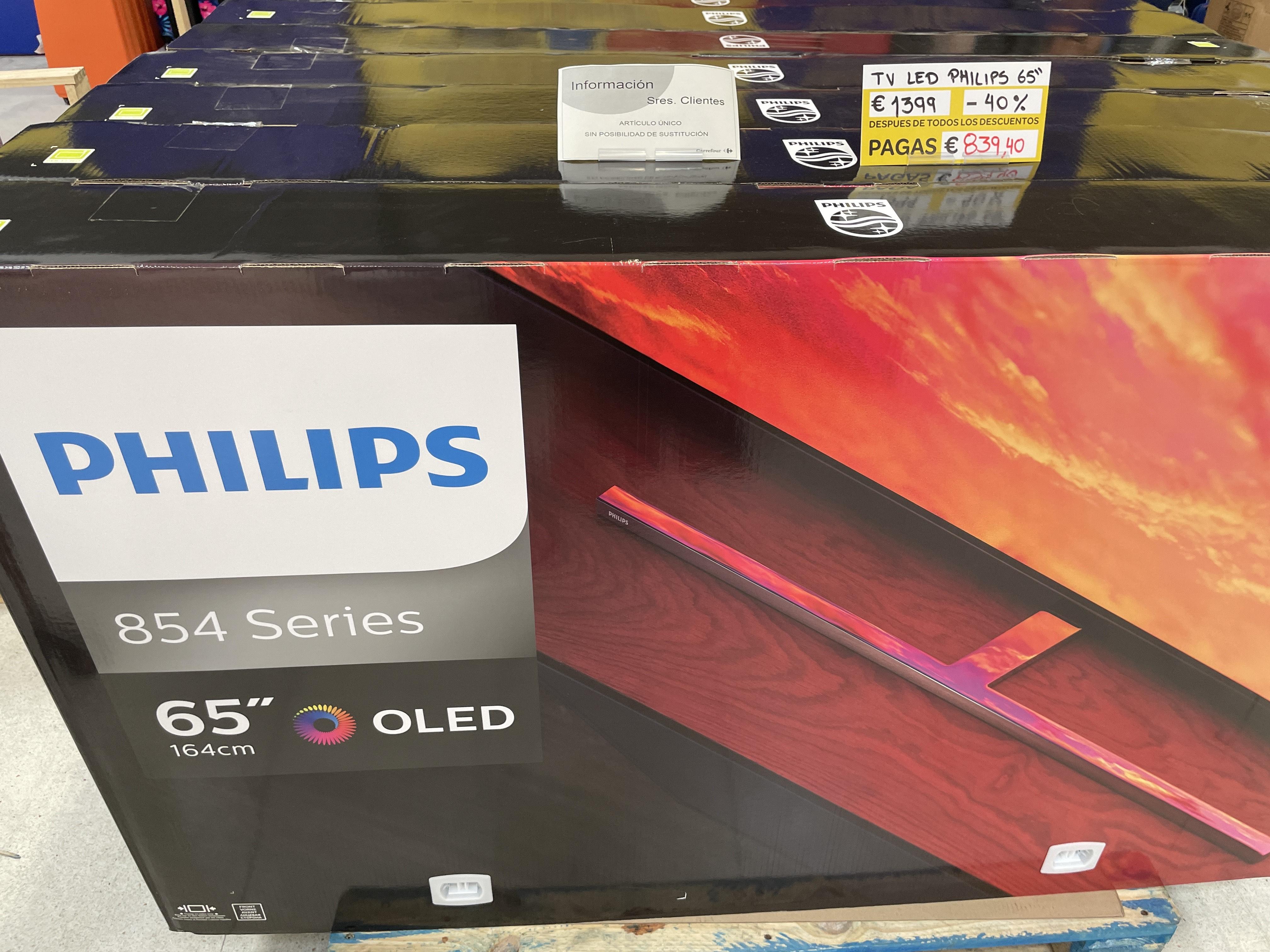 """TV OLED PHILIPS 65"""" en Carrefour de Móstoles."""