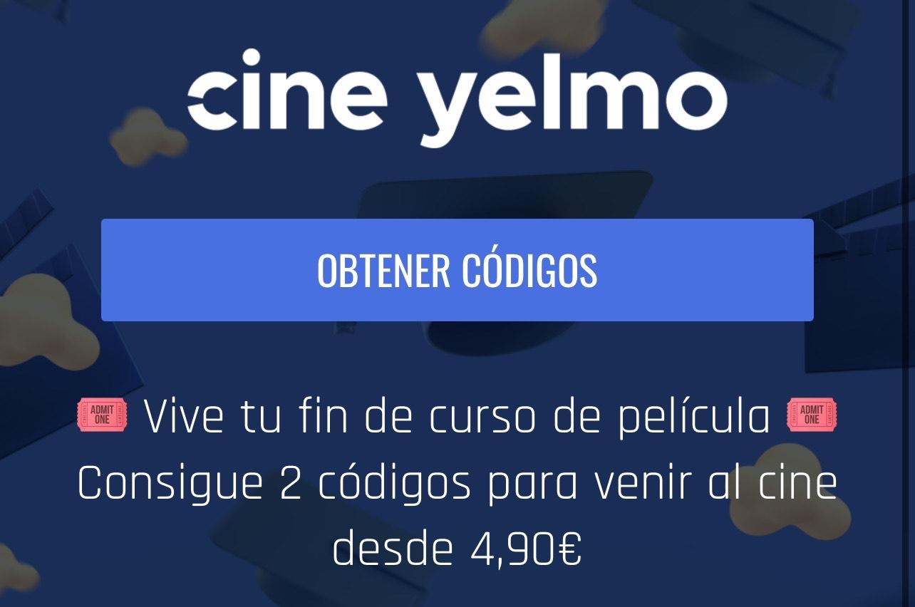 Cine desde 4,90€ (Cines Yelmo)