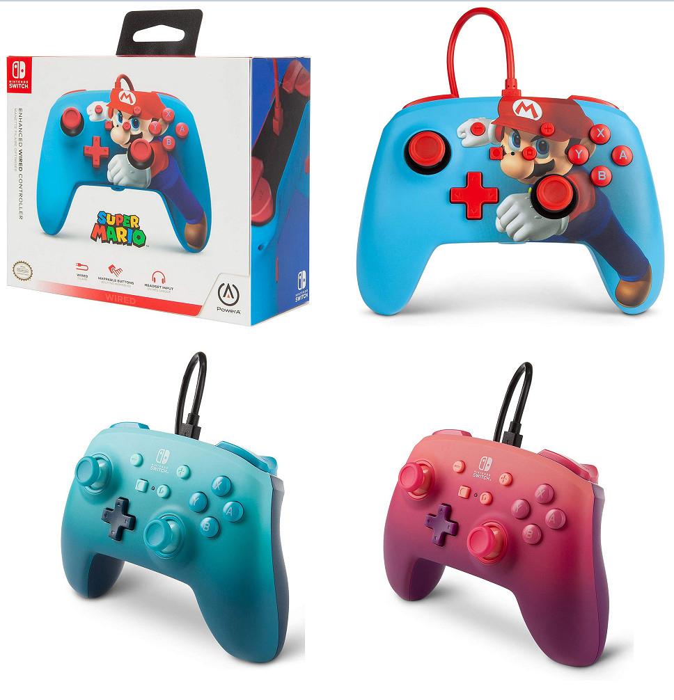 Mandos mejorados PowerA (Mario Punch, Aquatic y Fuchsia Fantasy) por sólo 15,99€