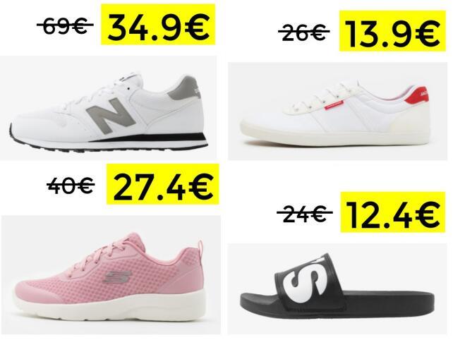 Descuentos de hasta el 50% en calzado marcas TOP
