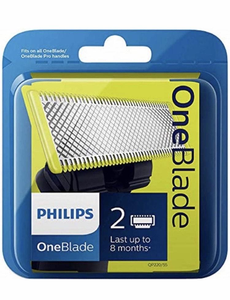 Otra vez!!! Cuchilla de recambio para Philips OneBlade, 2 cuchillas
