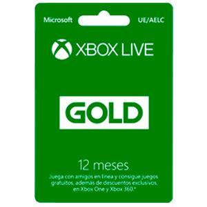 Xbox Live Gold 12 meses a 38€, Tarjeta Saldo XBOX 50€ a 39€