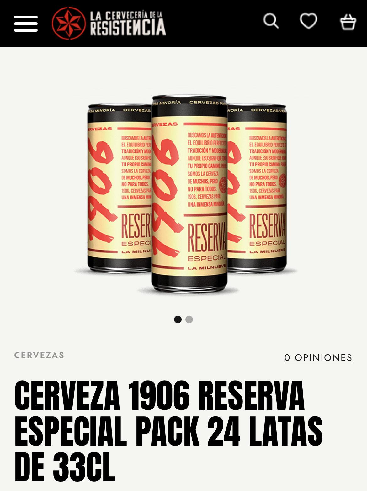 Cerveza 1906 20% descuento