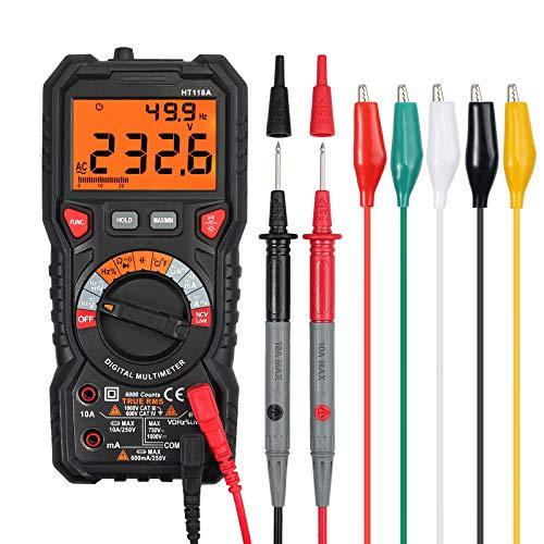 Multímetro Digital 6000 Cuentas TRMS Polimetro Rango Auto/Manual. Por 17,84€