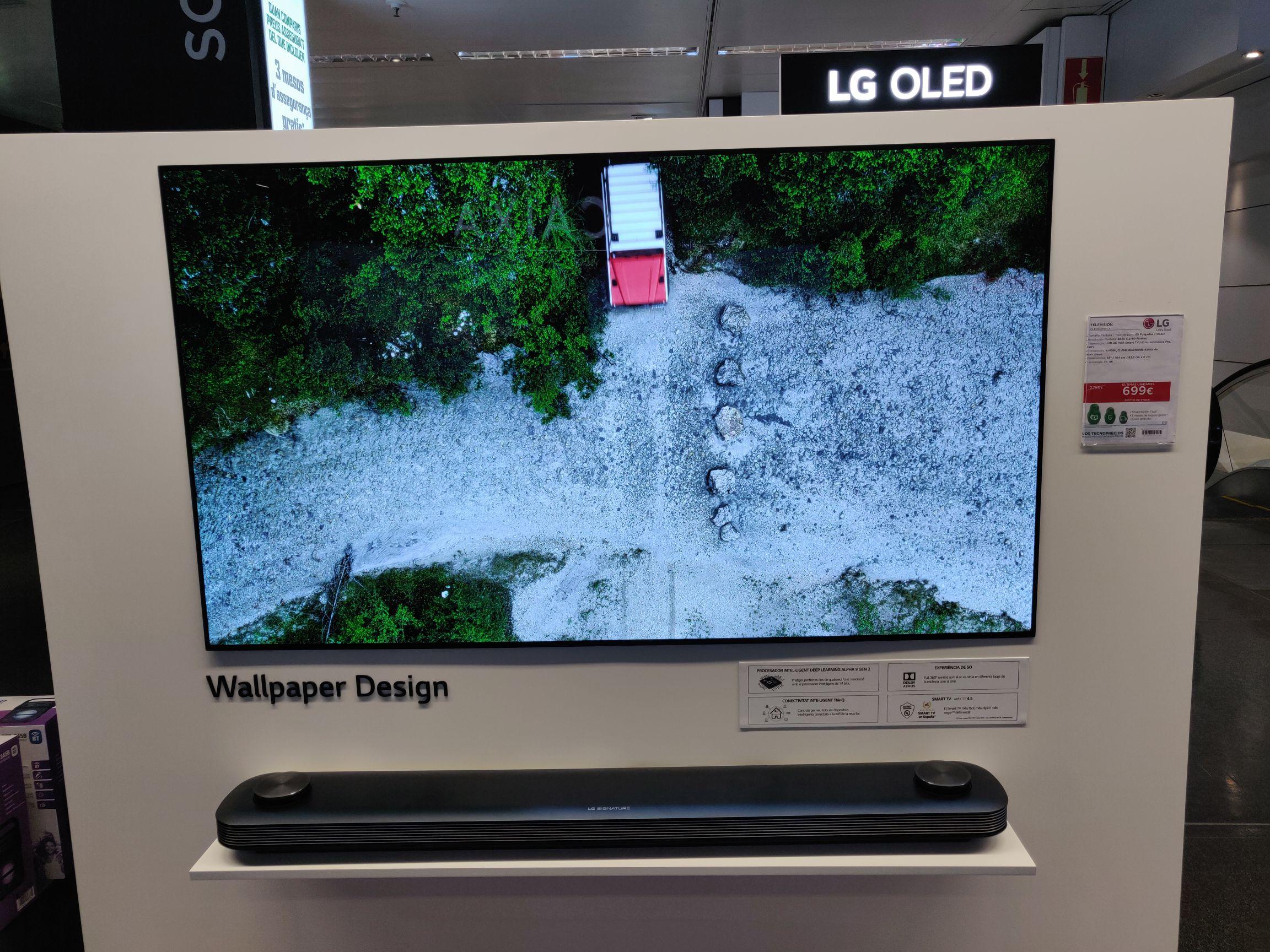 LG oled 65w8pla + barra de sonido en el corte inglés plaza cataluña