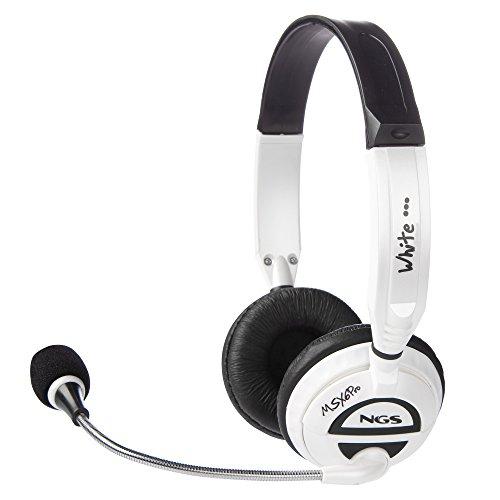 NGS HEADSET MSX6 PRO WHITE- Auricular Acolchado con Micrófono Ajustable