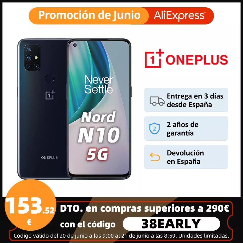 OnePlus Nord N10 5G, Versión global, 6GB RAM 128GB ROM desde España
