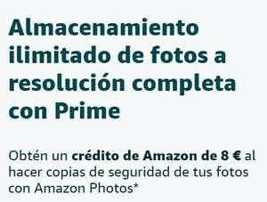 Amazon Photos y consigue 8€ (cuentas seleccionadas)