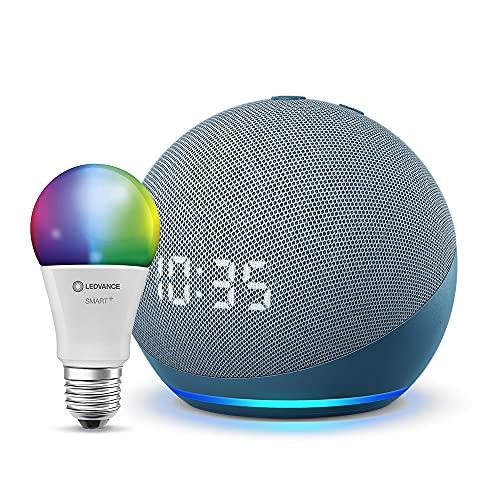 Echo Dot (4.ª generación) Reloj + Bombila o Smart Plug