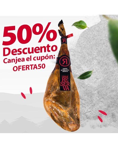 JAMÓN DE BELLOTA IBÉRICO 50% RAZA IBÉRICA 8,5-9KG