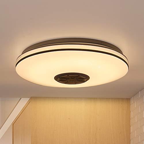 Luz de techo LED musical con altavoz Bluetooth. Por 12,25€