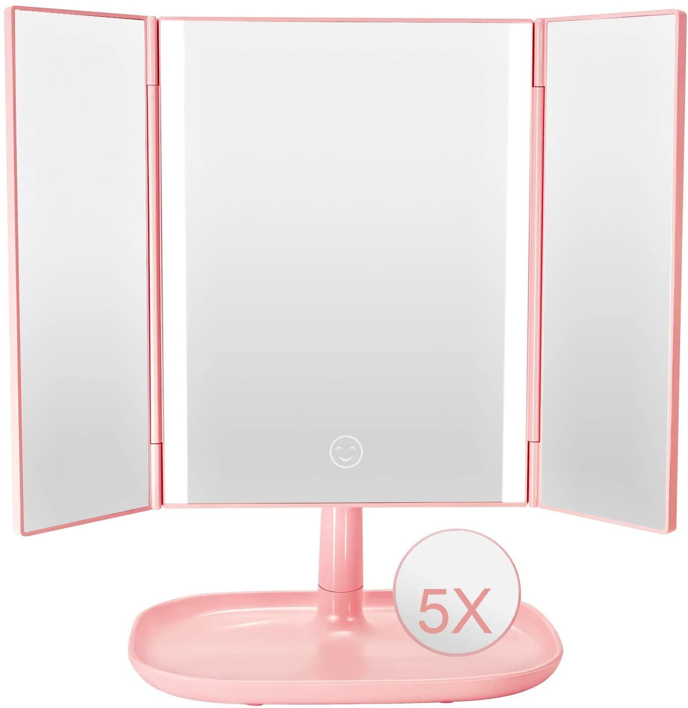 Espejo plegable con luz Led solo 7.9€