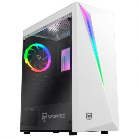 Nfortec Lynx Cristal Templado USB 30 RGB Blanco