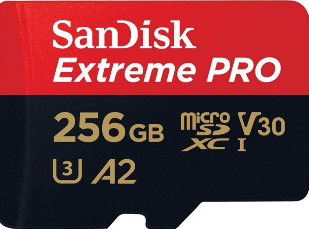 SanDisk Extreme PRO - Tarjeta de memoria microSDXC de 256 GB con adaptador SD, A2, hasta 170 MB/s
