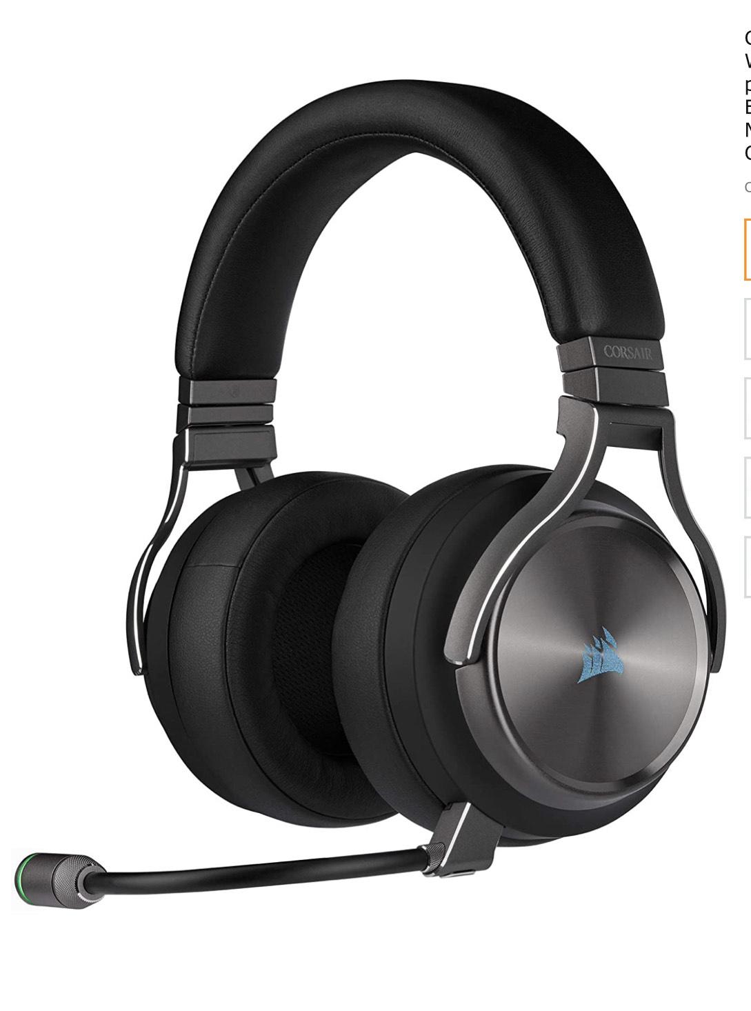 Corsair VIRTUOSO RGB WIRELESS SE, Auriculares para Juegos de Alta Fidelidad, Envolvente e Inmersivo 7.1