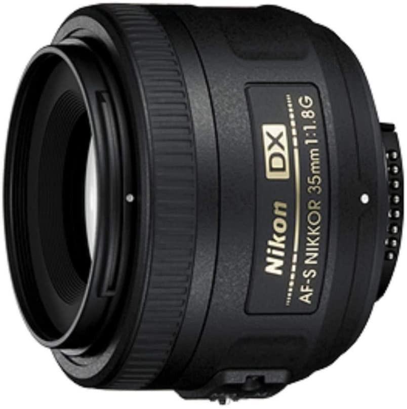 Nikon AF-S DX Nikkor 35 mm f/1.8 G - Objetivo para montura F, distancia focal fija 52.5 mm, apertura f/1.8G, negro