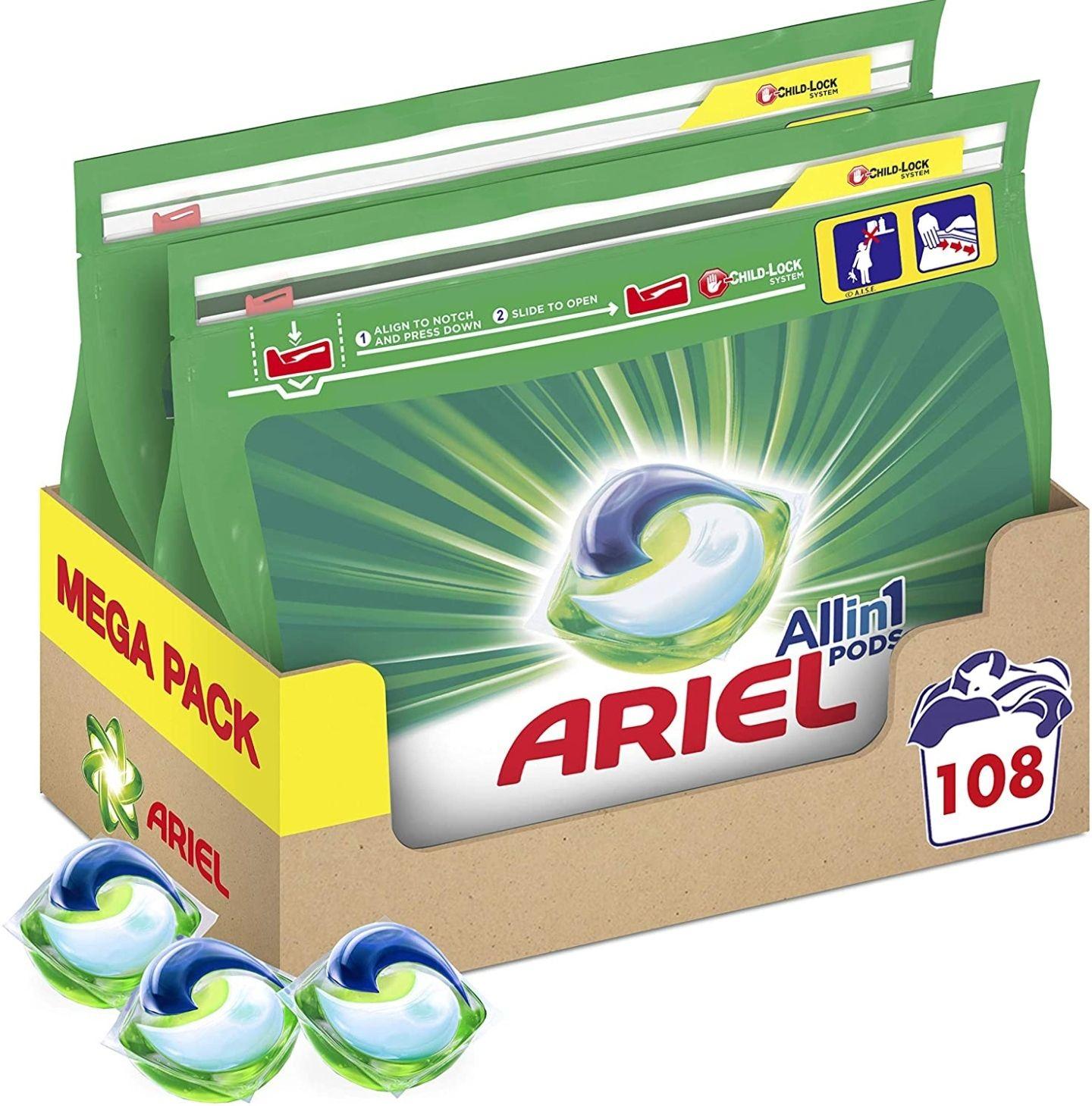 Arielpods 108 lavados por menos de 21€