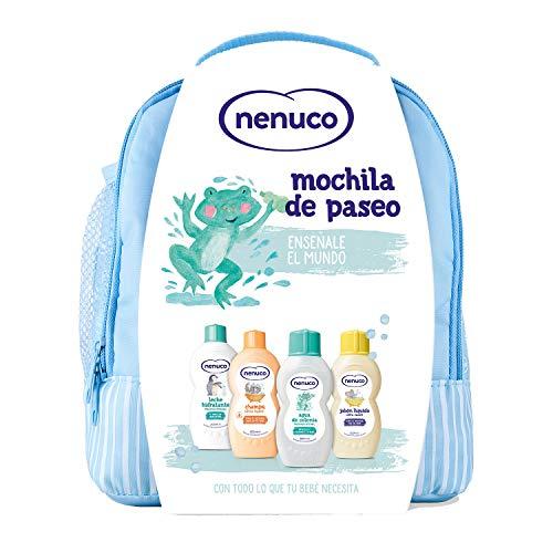 Nenuco Pack Bebé Mochila de Paseo, contiene colonia, jabón, champú y leche hidratante (Tambien en Rosa 6.90€)