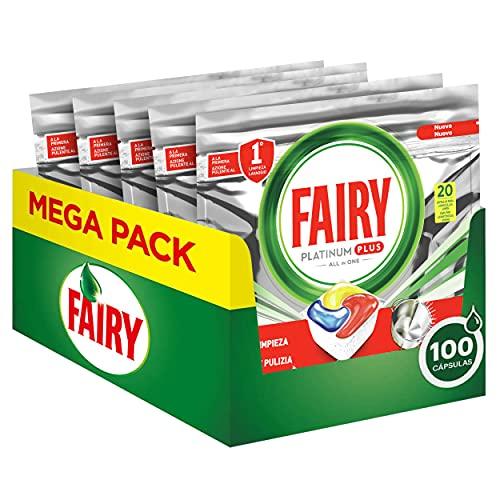 Fairy Platinum Plus Pastillas Lavavajillas, 100 cápsulas (5 x 20)