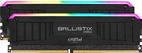 !!MÍNIMO HISTÓRICO ¡¡¡Crucial Ballistix MAX RGB, 4400MHz, DDR4, DRAM, Memoria Gamer para Ordenadores de sobremesa, 16GB (8GB x2) CL19, Negro