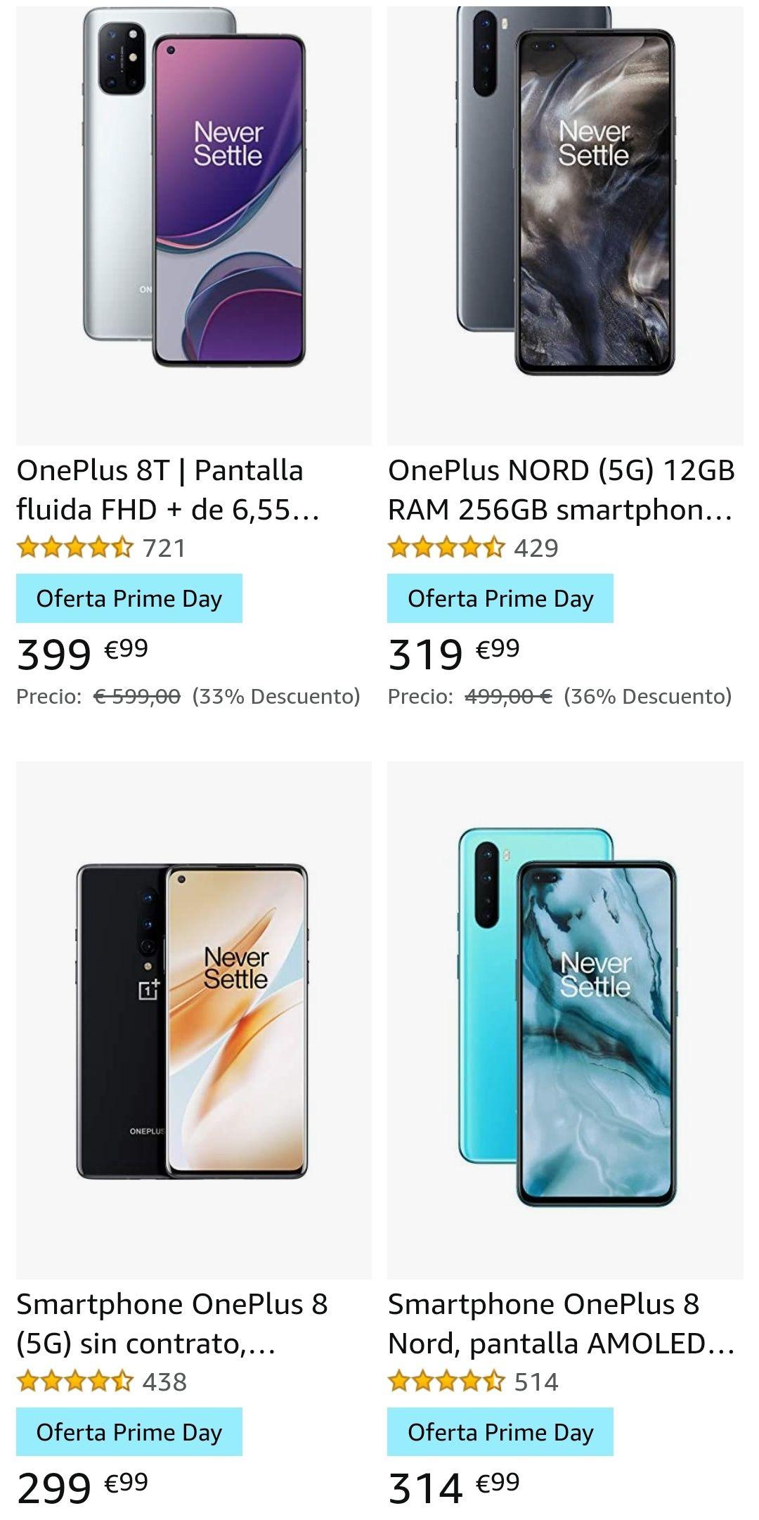 Oneplus 8 por 299€ ( recopilación de gama 8 de oneplus)