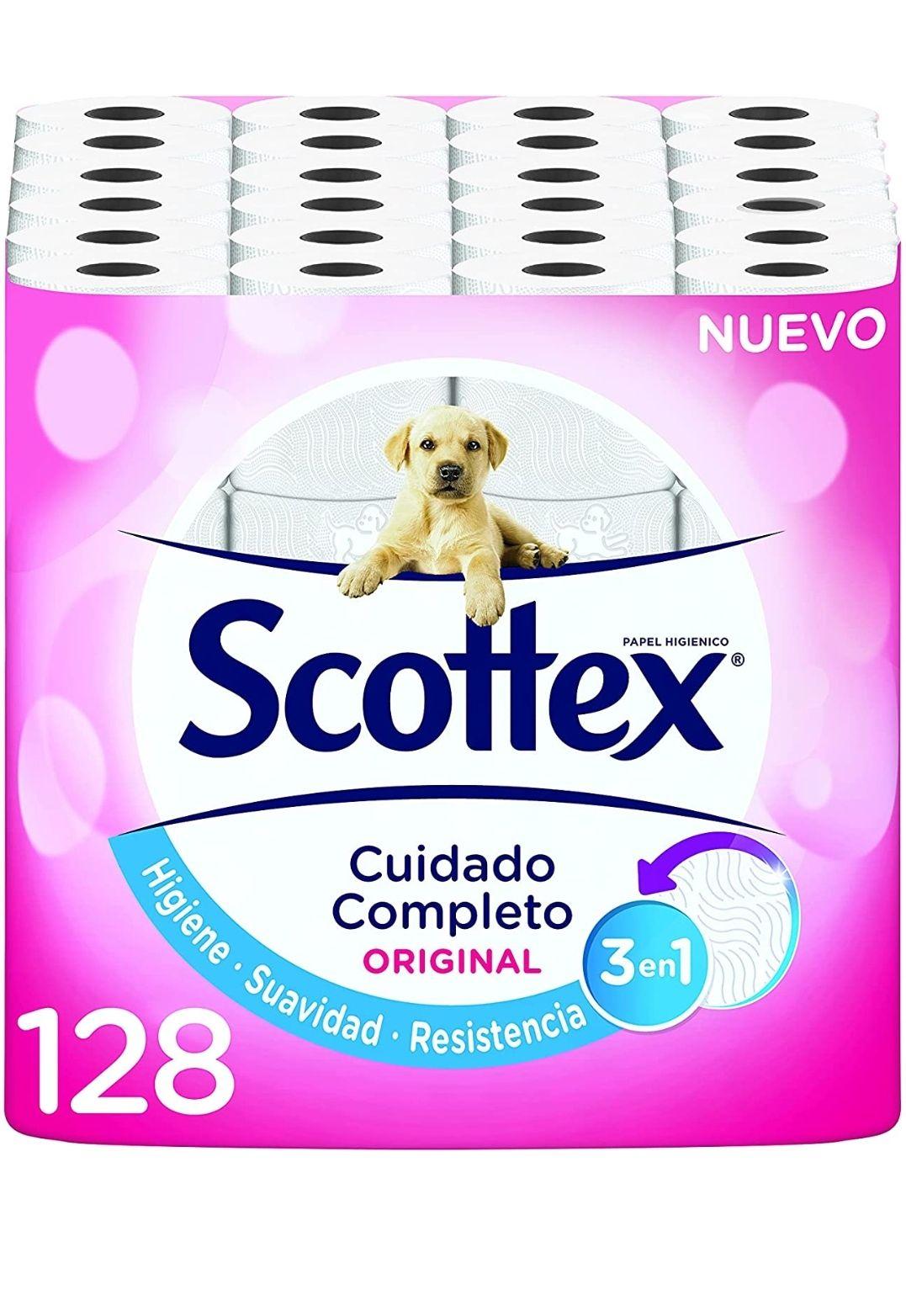 Papel higiénico scottex 128 rollos