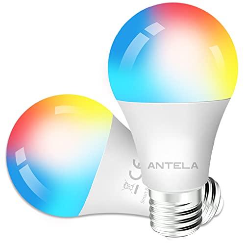 ANTELA Bombilla Inteligente LED E27 Wifi 9W