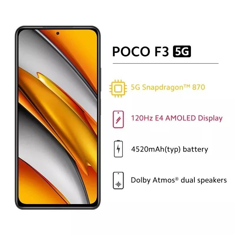 Poco F3 5G 8/256 desde España por 250,22€ (244€ con monedas)