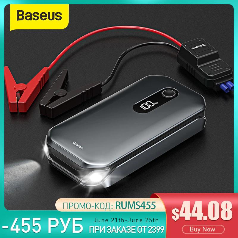 Arrancador de baterias Baseus 1000A Car. Power Bank 12000mAh Portatil