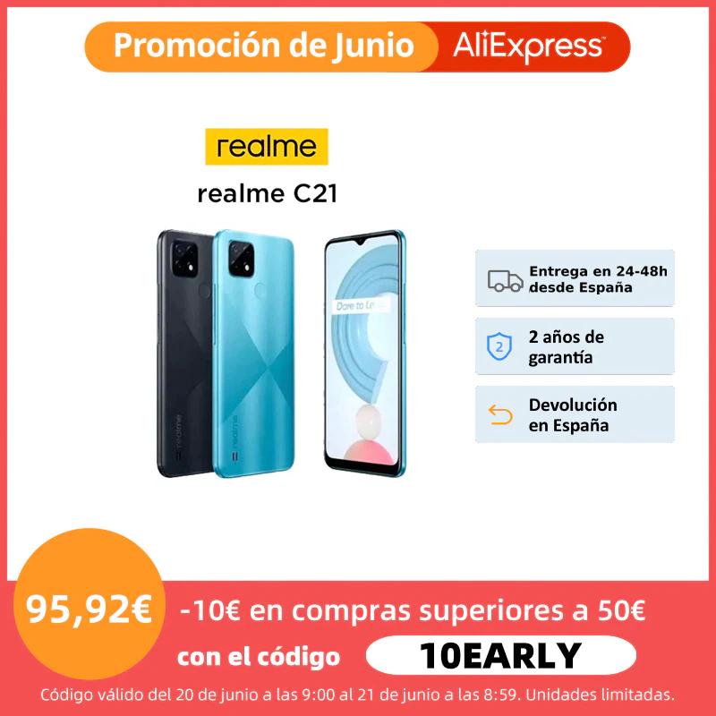 Realme C21 3/32 GB desde España por 85,92 €
