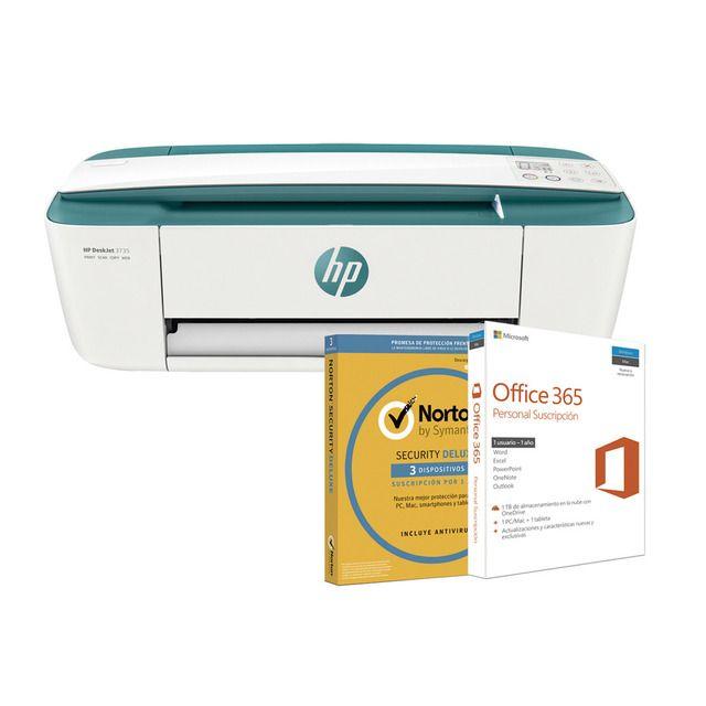 Impresora Multifunción HP + Office 365 Personal (1 año) + Norton Security Deluxe (1 año) + 50 páginas/mes GRATIS durante 1 año