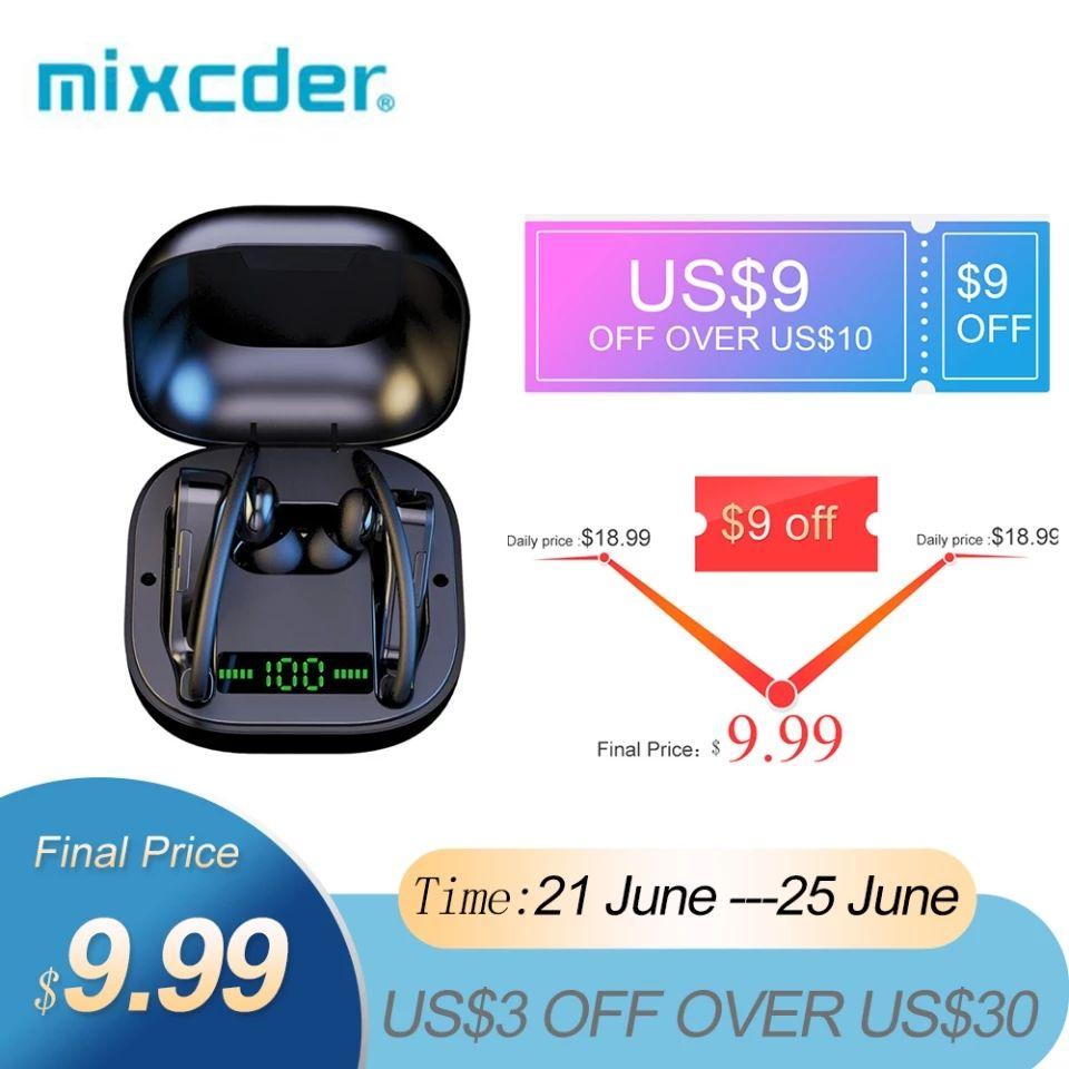Mixcder-auriculares inalámbricos T2 con Bluetooth 5,0