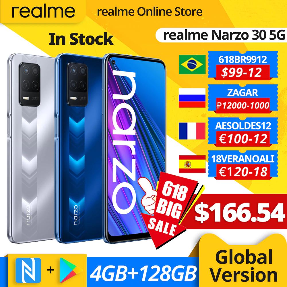 realme narzo 30 5G Smartphone 4GB 128GB desde China
