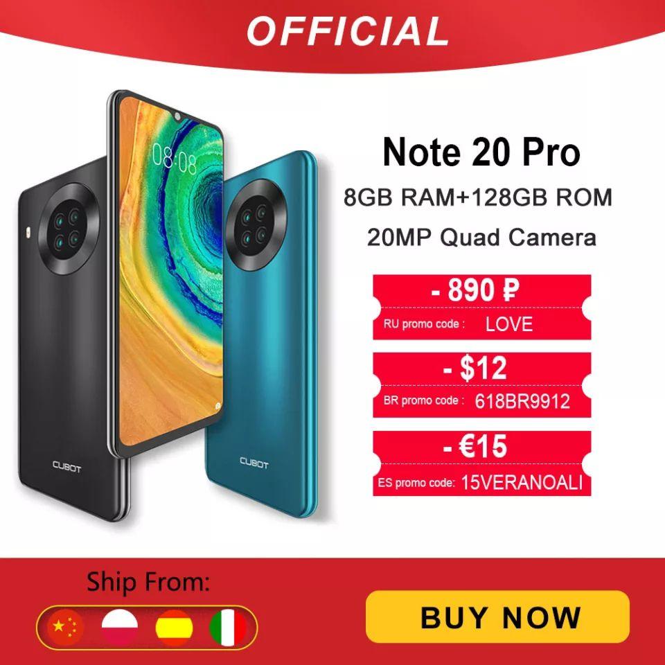 Cubot Note 20 Pro 6/128GB desde España (8/128GB a 89€)