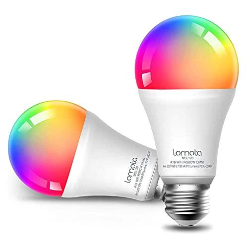2 x Bombilla LED Inteligente Alexa WiFi