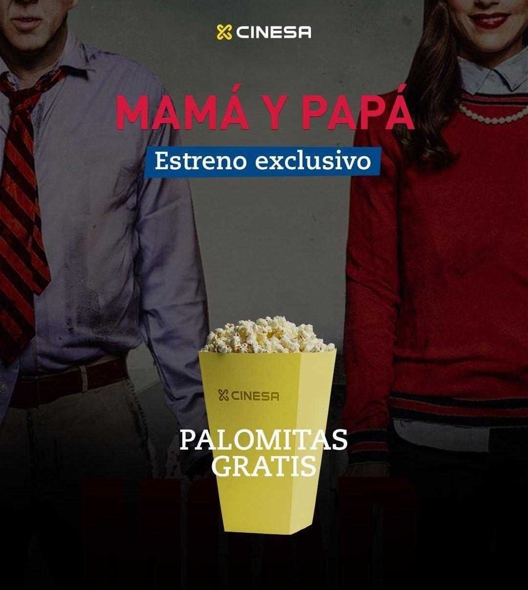 """Palomitas gratis con tu entrada para """"Mamá y papa"""" en Cinesa"""
