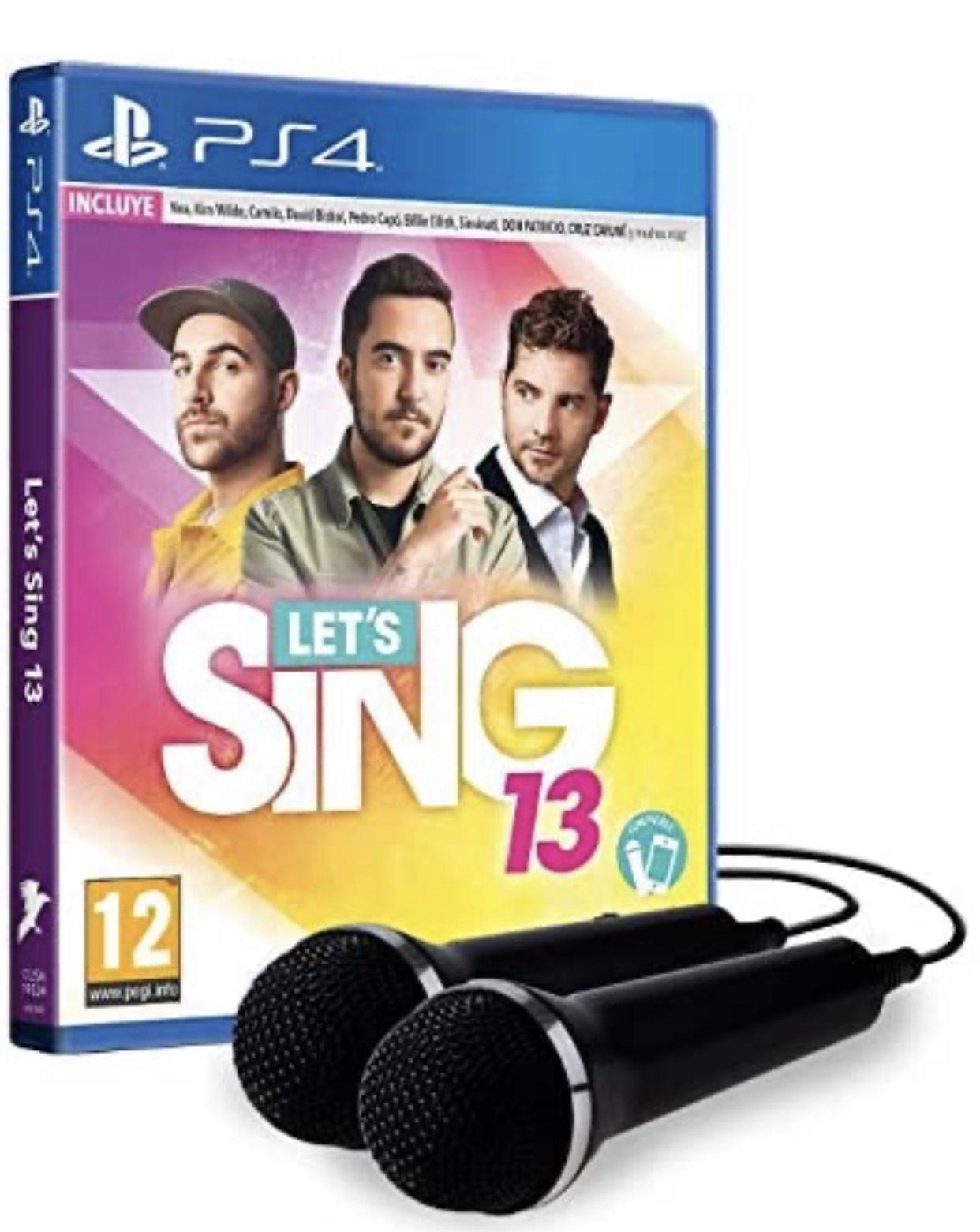 Sing 13 con dos micrófonos PS4 (oferta prime)