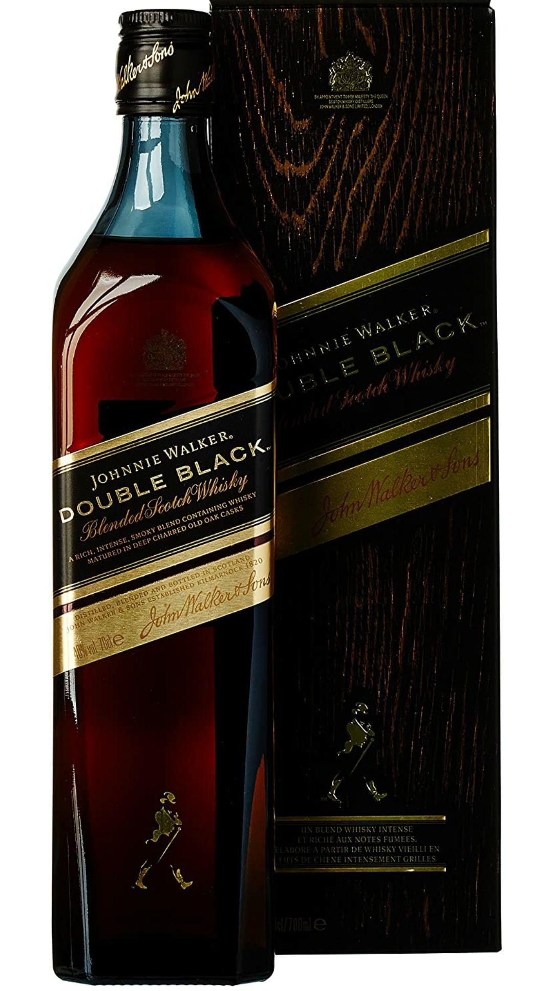 Johnnie Walker Double Black Label Whisky Escocés, 700 ml