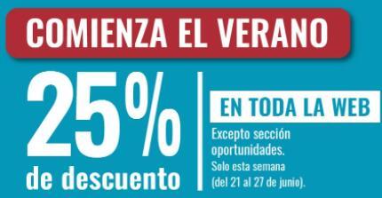 25% de descuento en OHGAR (excepto sección Oportunidades)